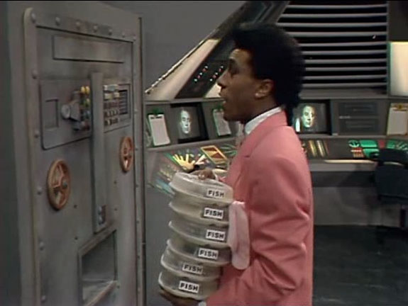 Fish from Red Dwarf Series 1 Episode 3 Balance of Power