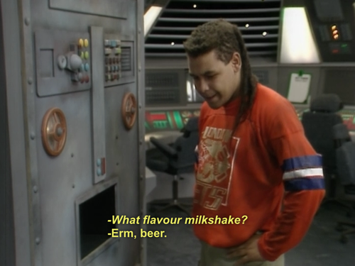 Beer flavoured milkshake