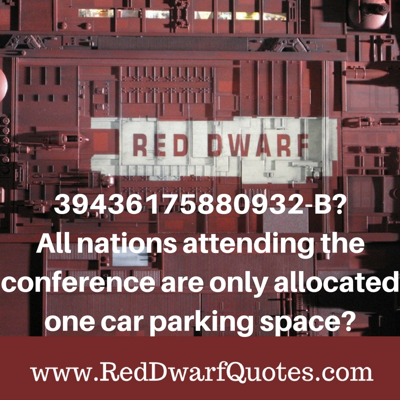 39436175880932- B? All nations attending the conference are only allocated one parking space?