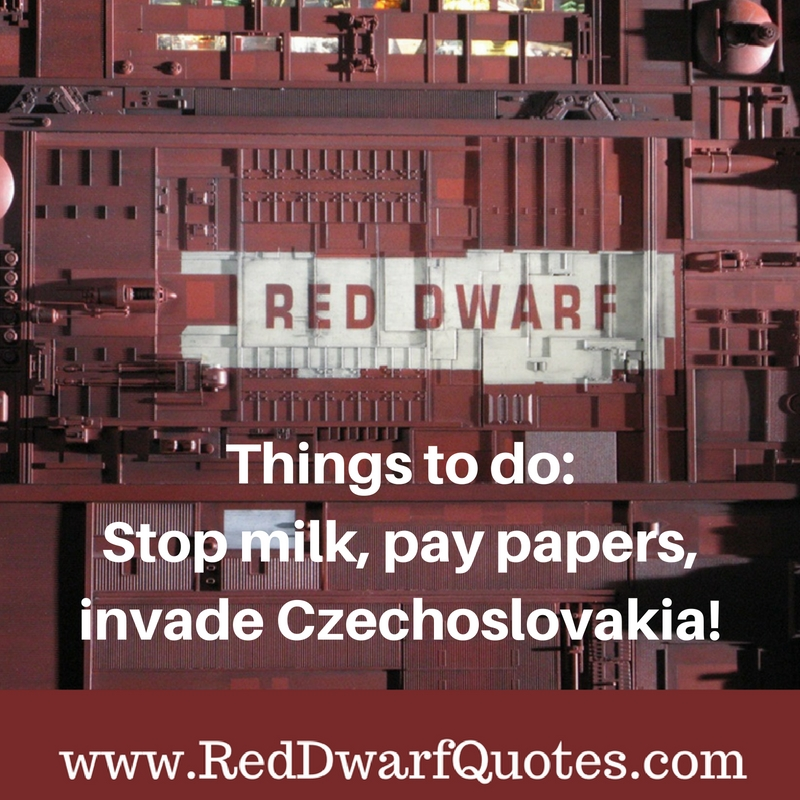 Things to do: Stop milk, pay papers, invade Czechoslovakia!