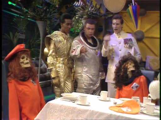 Crashed ship crew from Red Dwarf