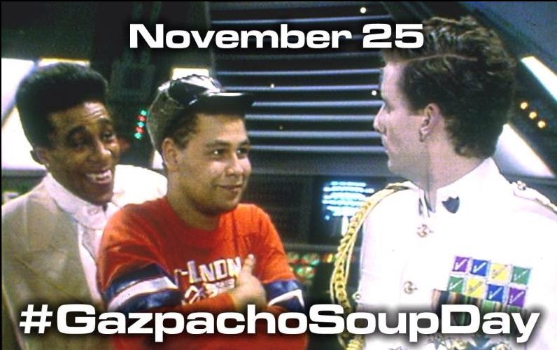 November25 is Gazpacho soup day