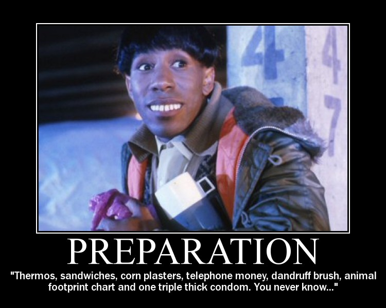 Preparation to travel Red Dwarf style!
