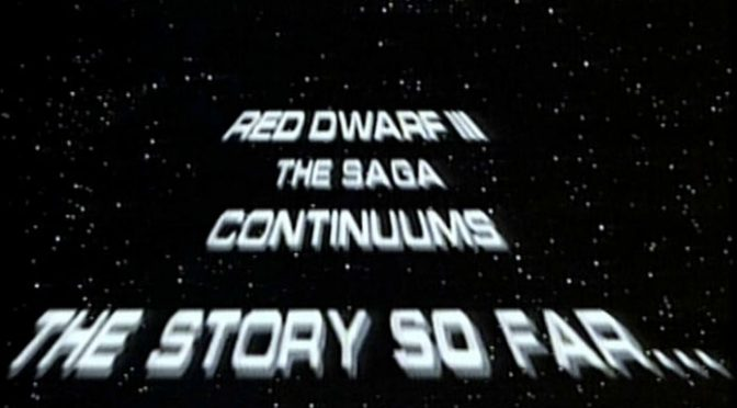 Red Dwarf Full Script Series 3 Episode 1 Backwards