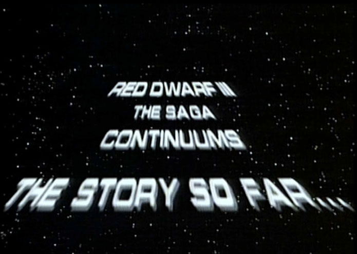 Red Dwarf scrolling text