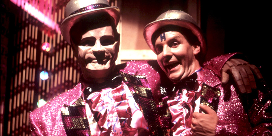 Rimmer and Kryten are the Reverse Brothers in Red Dwarf