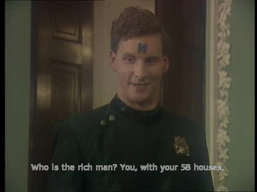 Rimmer asking who is the rich man in Red Dwarf Timeslides