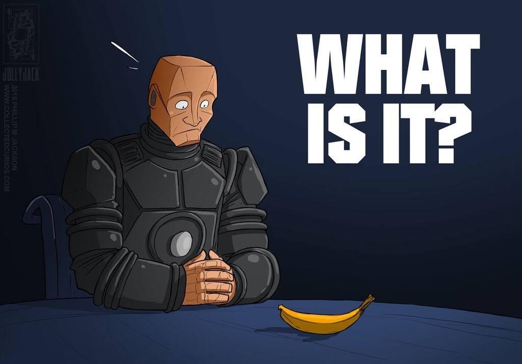 Kryten Banana Red Dwarf
