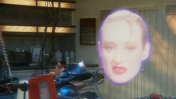 Holly from Red Dwarf in White Hole