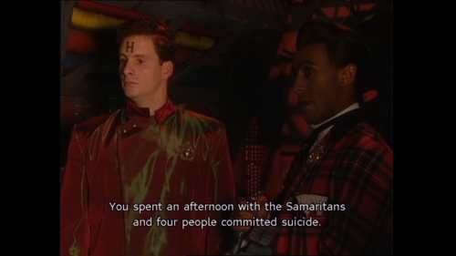 Rimmer worked for the Samaritans