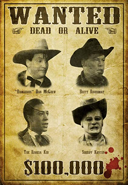 Red Dwarf Gunmen of the Apocalypse Wanted Poster