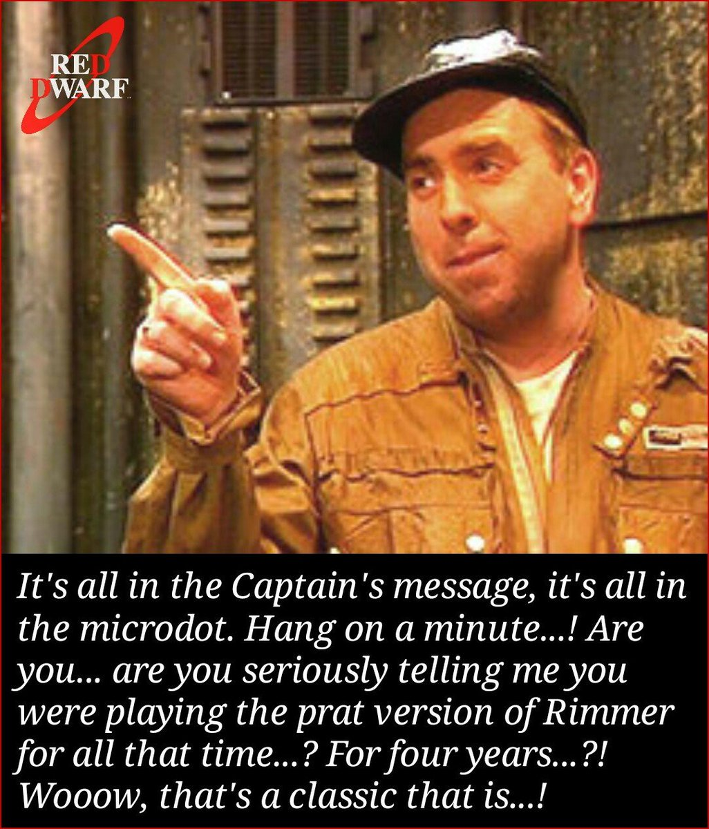 Red Dwarf all in the microdot